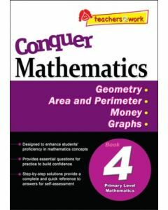 Conquer Mathematics Book 4: Geometry, Area and Perimeter, Money, Graphs