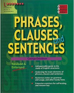 English Language Toolbox: Phrases, Clauses And Sentences